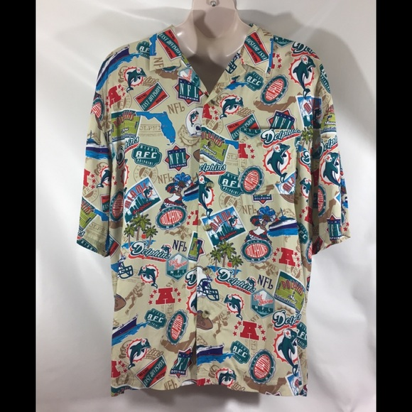 33a0e72f3 Miami dolphins Hawaiian short sleeve button up XL.  M 5af6fc3650687c67d58629c7